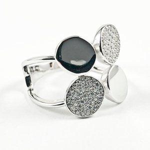 Jewelry - Elegant Multi Round Disc Design Silver Ring